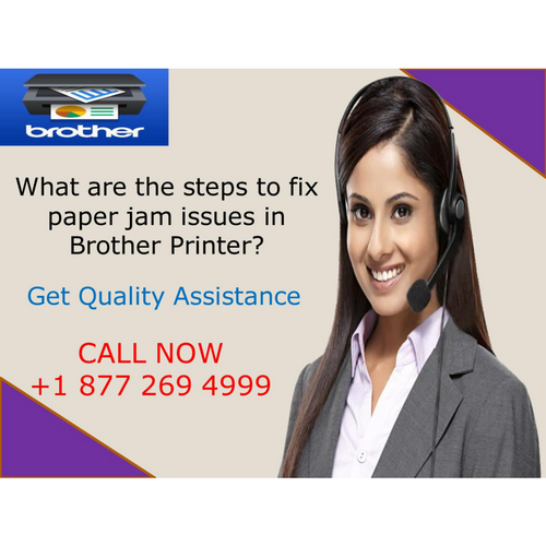 What are the steps to fix paper jam issues in Brother Printer