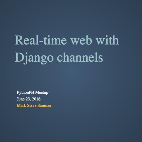 Django Channels Docker