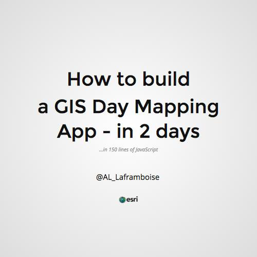 How to Build a Web Map App in 2 Days