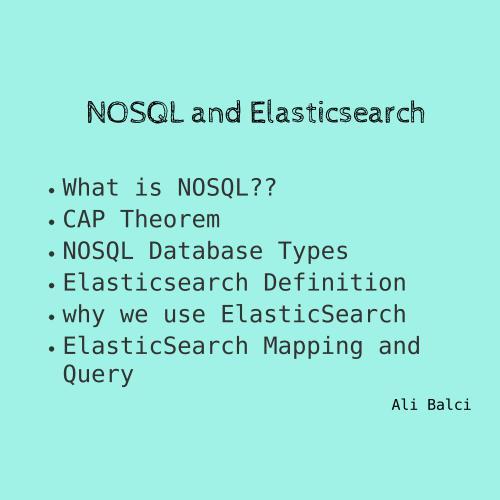 Nosql-ElasticSearch: Slides