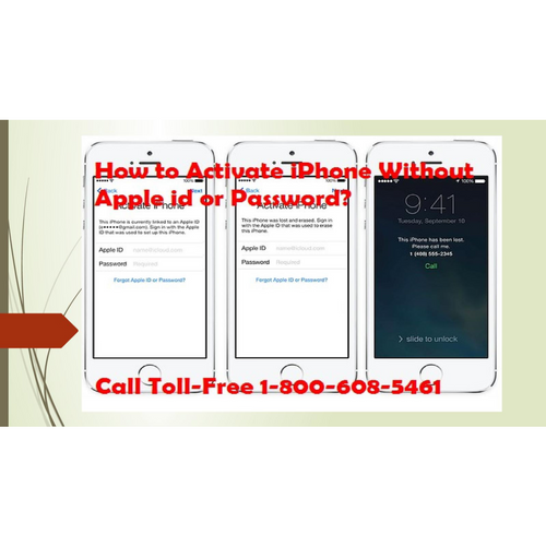 1-800-608-5461 How to Activate iPhone Without Apple id or Password?