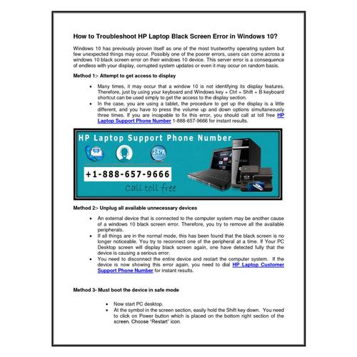 How to Troubleshoot HP Laptop Black Screen Error in ...
