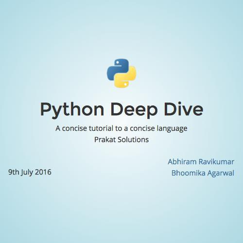 Python Deep Dive