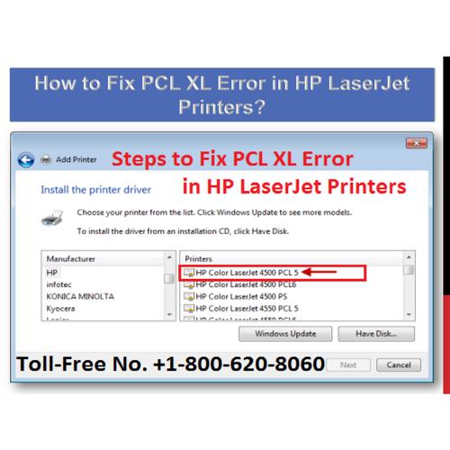 1-844-355-5111 Fix PCL XL Error in HP LaserJet Printers