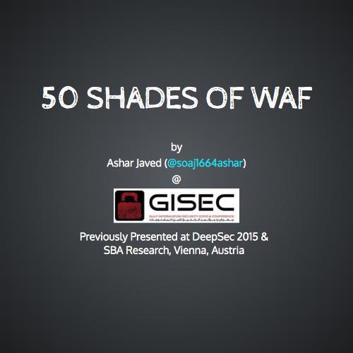 50 shades of waf