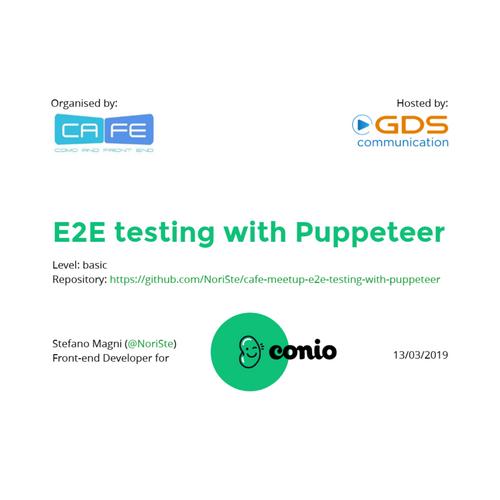 E2E testing meetup for CaFE