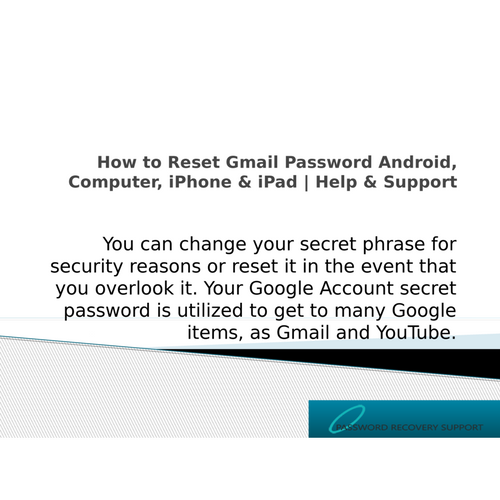 How to Reset Gmail Password Android, Computer, iPhone & iPad