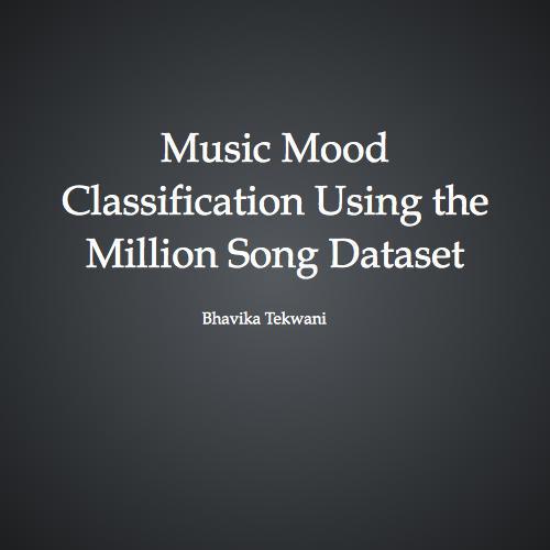 Music Mood Classification