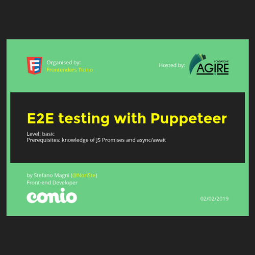 E2E testing workshop for FETI