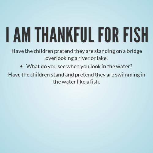 I am thankful for fish for What kind of fish am i
