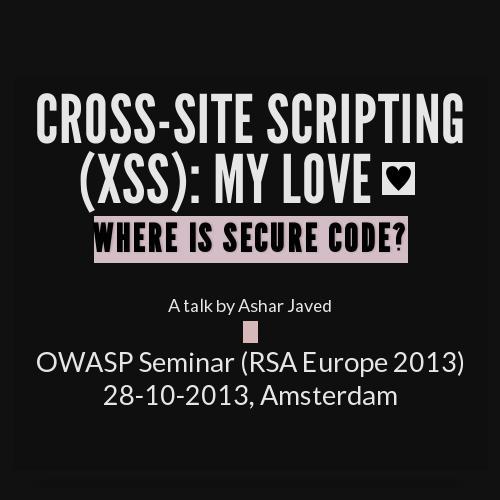 Cross-Site Scripting: My Love