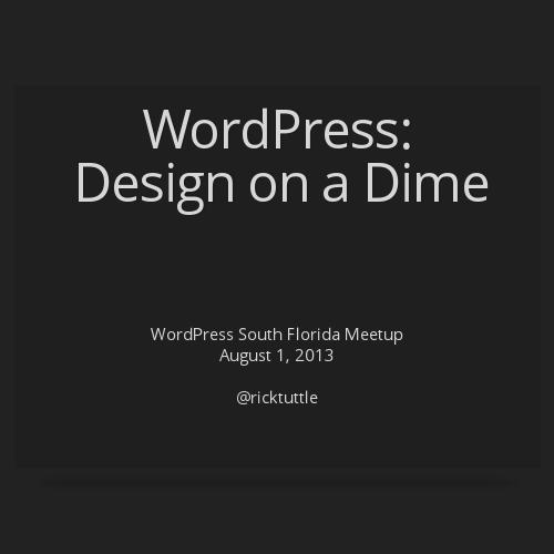 Wordpress design on a dime by papasoft for Decor on a dime