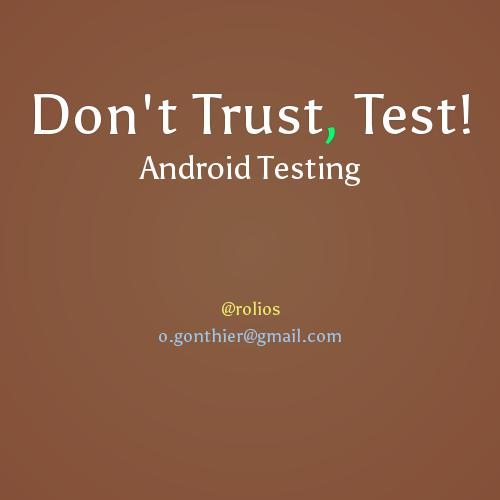 Android Testing