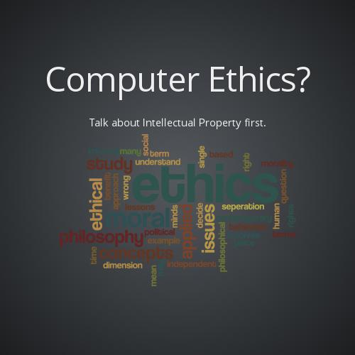 computer ethics The essential difficulty about computer ethics' (ce) philosophical status is a  methodological problem: standard ethical theories cannot easily be adapted to  deal.