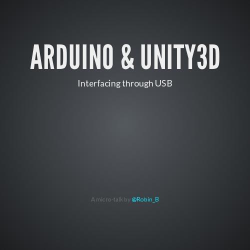Arduino - Unity 3D communication