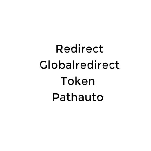 Redirect + globalredirect + token + pathauto