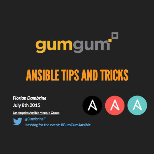 Ansible Tips And Tricks