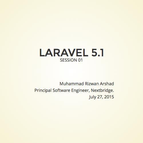 Laravel 5 1 - Session 01