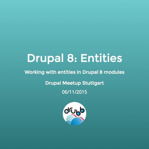 Drupal 8: Entities