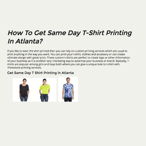 How To Get Same Day T Shirt Printing In Atlanta By Design857