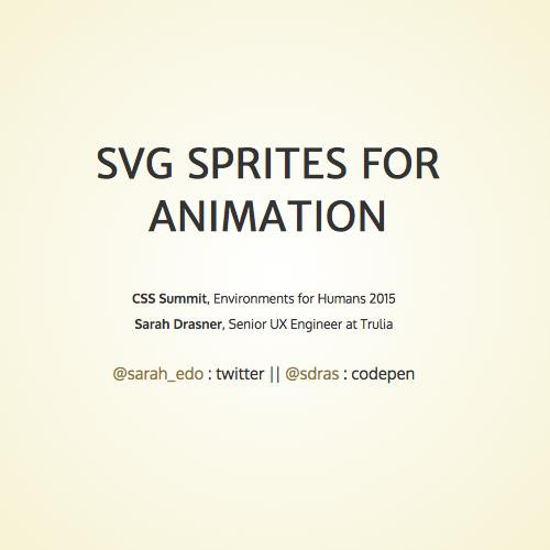 SVG Sprites for Animation