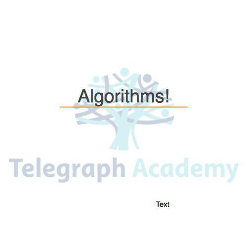 how to write an algorithm for a program