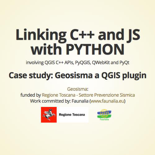 QGIS: Linking C++ and JS with Python
