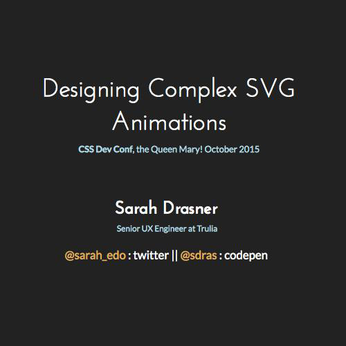 Designing Complex SVG Animations