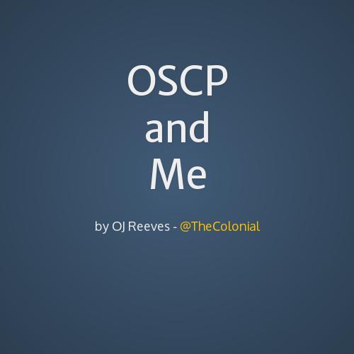 OSCP and Me