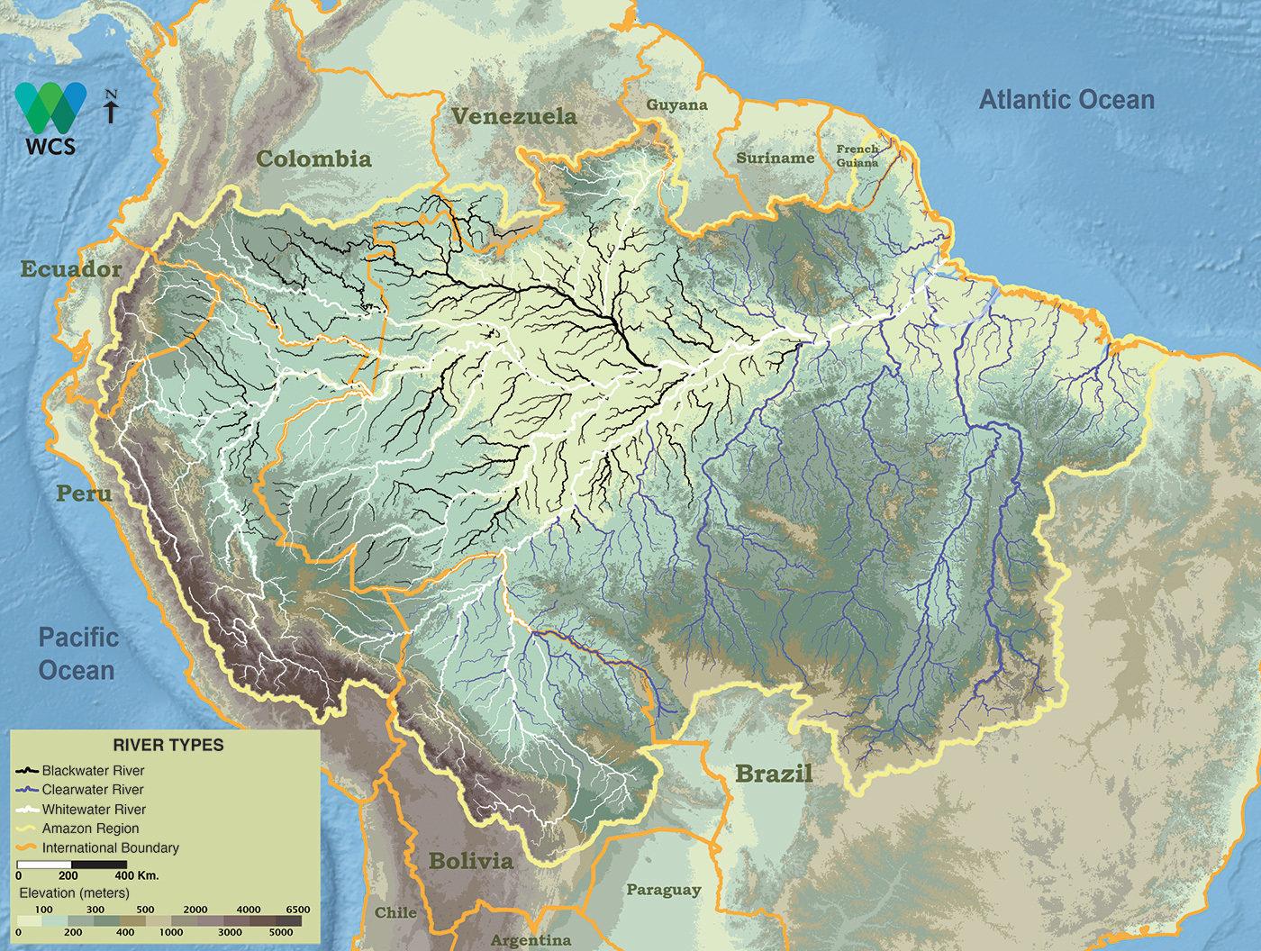 Река амазонка картинки на карте конце