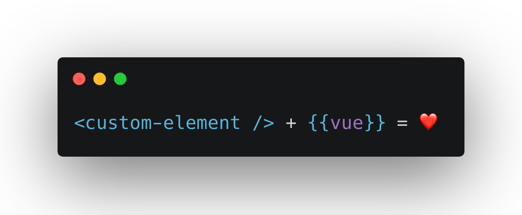 Using web components in vue
