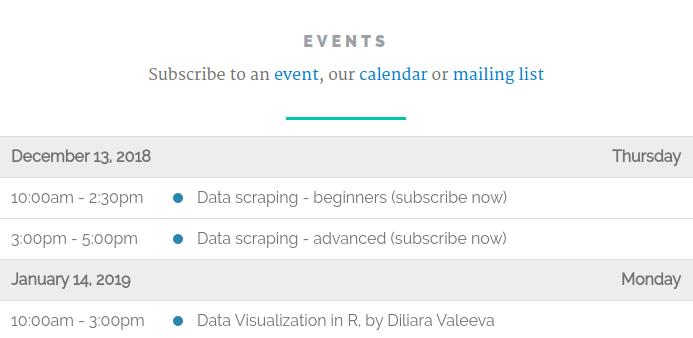 Workshop on data scraping - Amsterdam CSS
