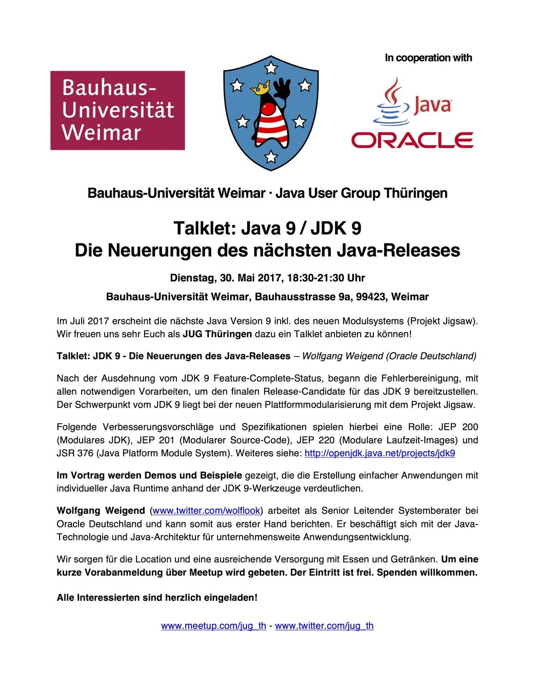 jugthde - Java User Group Thüringen