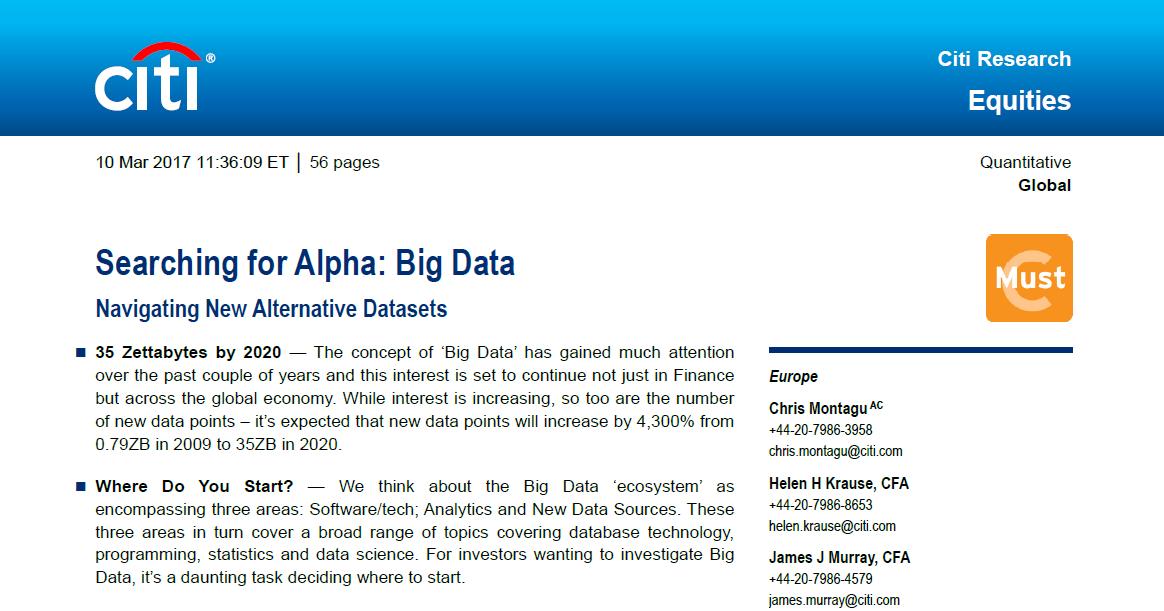 Alternative Data: Slides