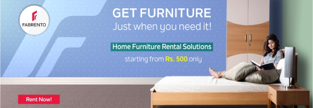 Fabrento rent quality home furniture online slides for Hometown furniture ghaziabad