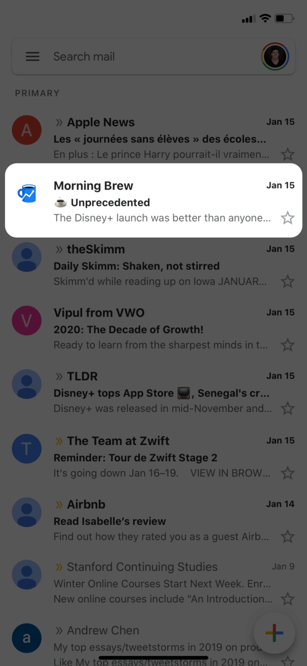morning brew newsletter avatar