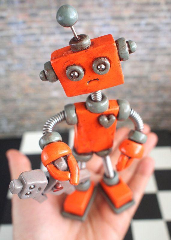 картинки про роботов из пластилина сделать простую поделку