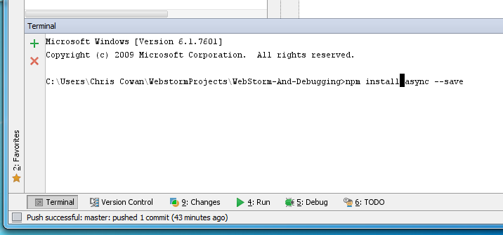 Developing Node js With WebStorm