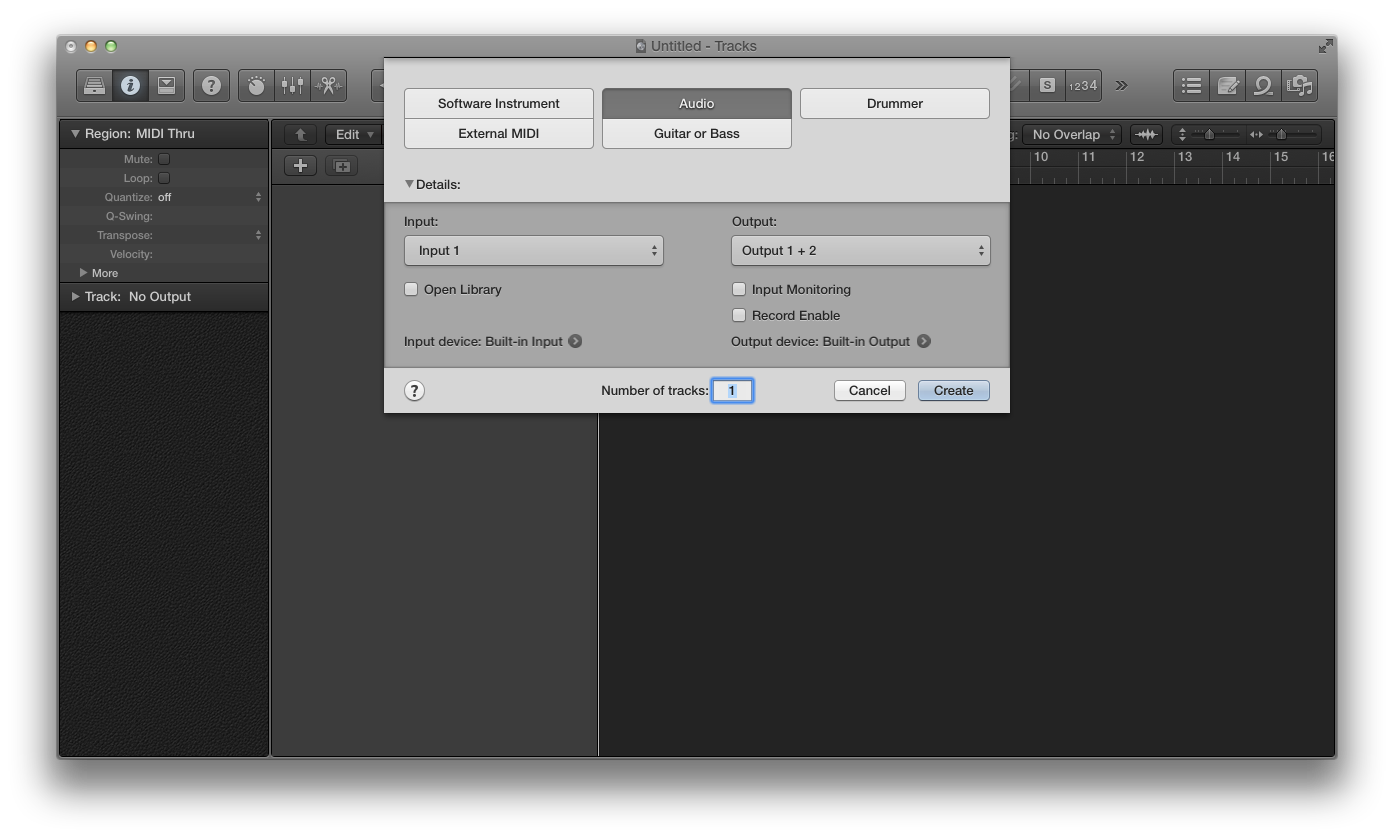 how to cut tracks in logic pro x