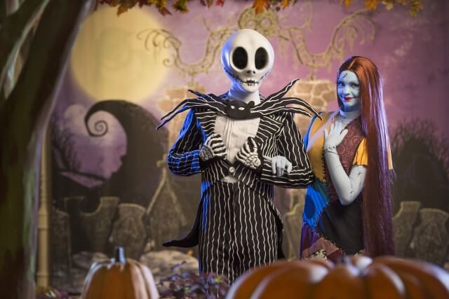Mickey's Not So Scary Halloween Party 2015 - Jack and Sally Skellington
