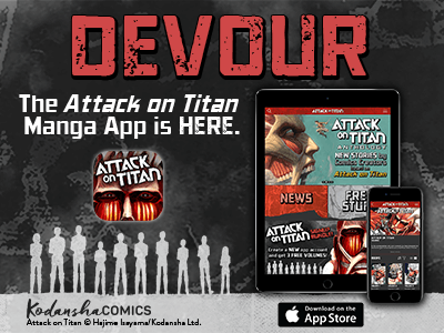 Devour  The Attack on Titan manga app is here  - Kodansha Comics