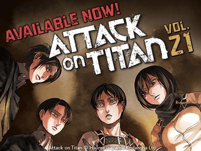 Attack on Titan Manga Vol 21 Brand New