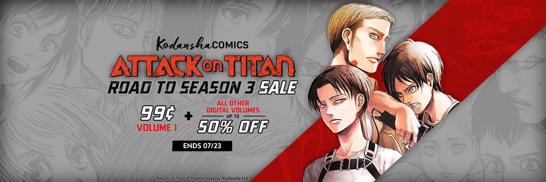 Attack on Titan Season 3 Sale! Volume 1 for 99¢ - Kodansha Comics