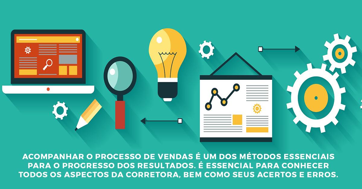 Acomanhar o processo de vendas é um dos métodos essenciais para o progresso dos resultados.