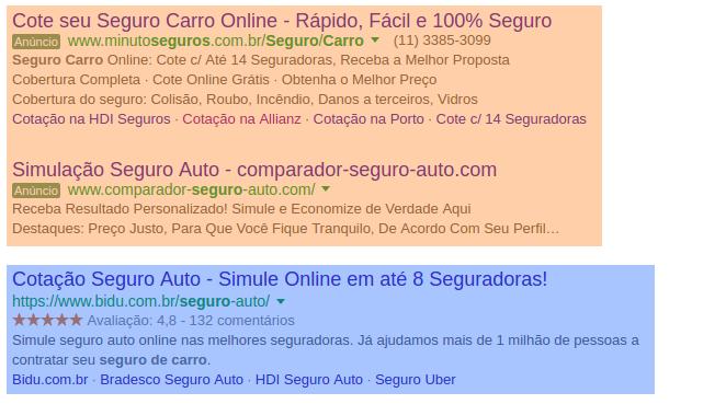 Adwords: cote seu seguro de carro