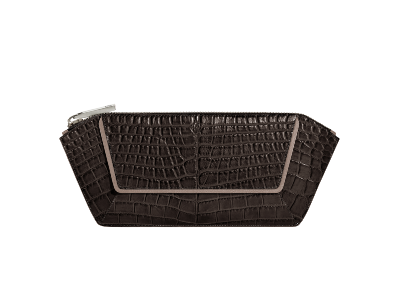 Top Zip Clutch Nile Crocodile