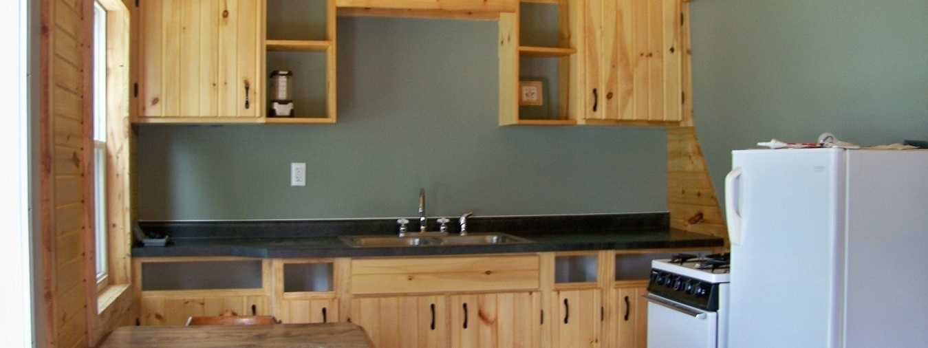 cabin one kitchen