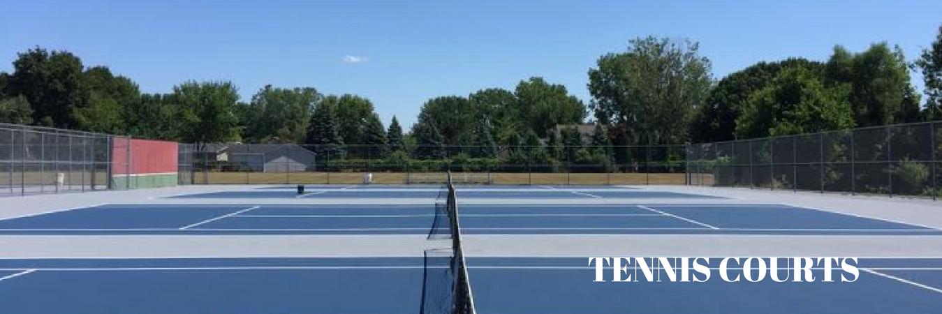 Asphalt Tennis Court Installation