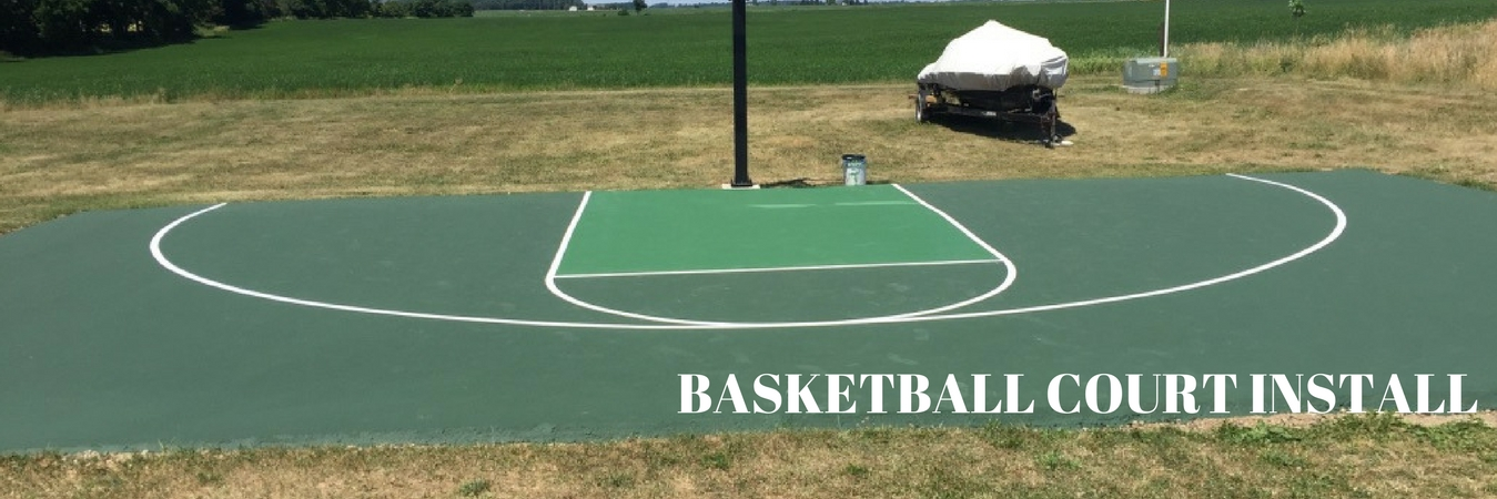 Basketball Court Installation Sealcoating