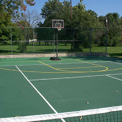 Mckearney Asphalt Sealing Basketball Court Installation